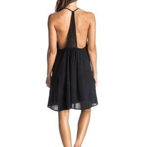 ROXY | Black Passing Sky Solid Dress Size Medium